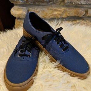 Men's Blue Vans Outsole Trainer Shoes Size 10